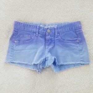 Mossimo Supply Co purple ombre cut-off jean shorts